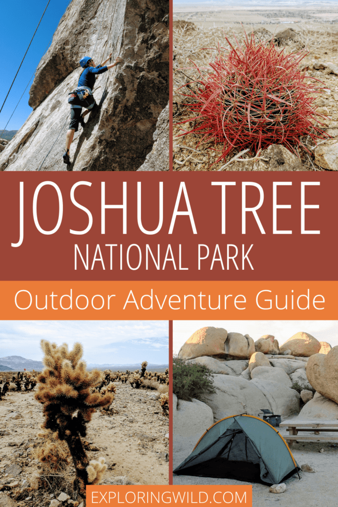 Pinterest image with text: Joshua Tree National Park Outdoor Adventure Guide