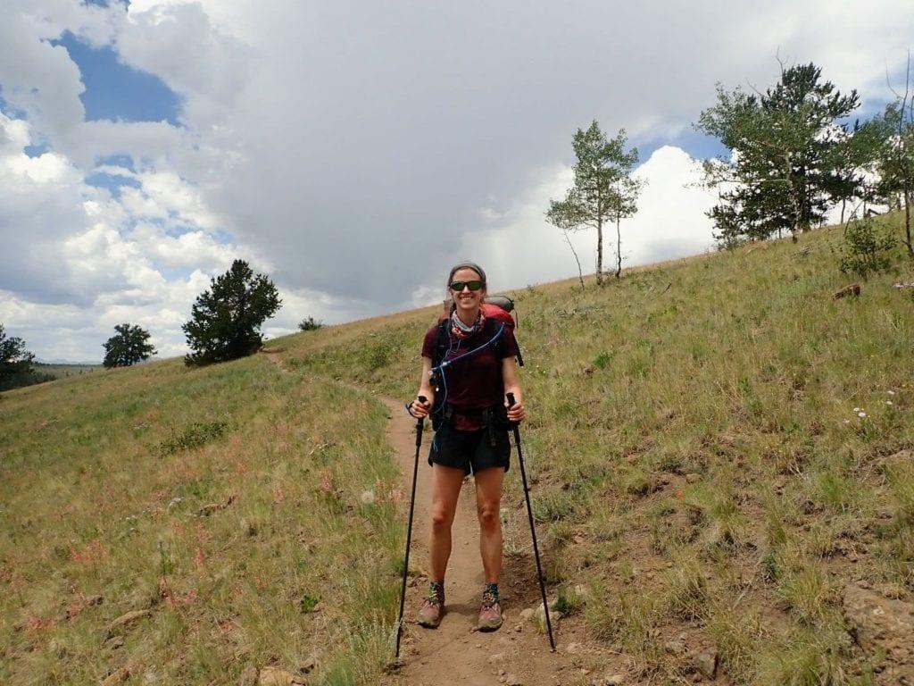 Female backpacker on Colorado Trail