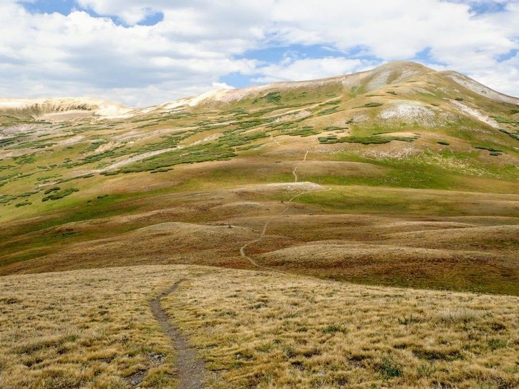 Mountain trail in the San Juan mountains
