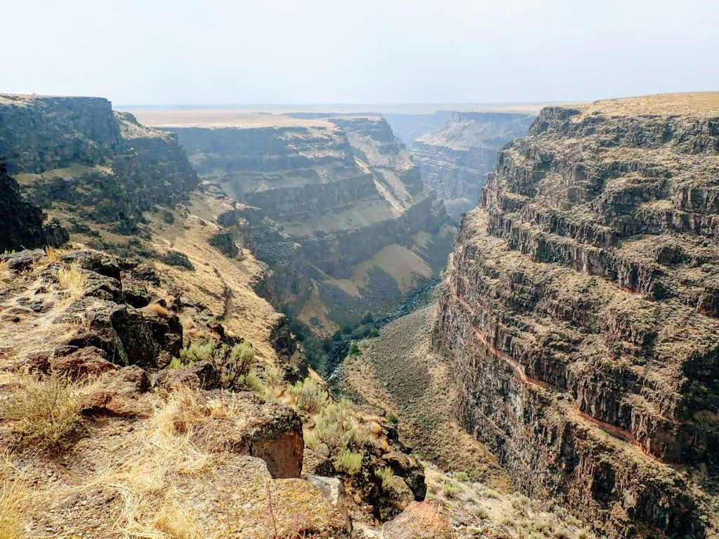 Deep river canyon in southern Idaho