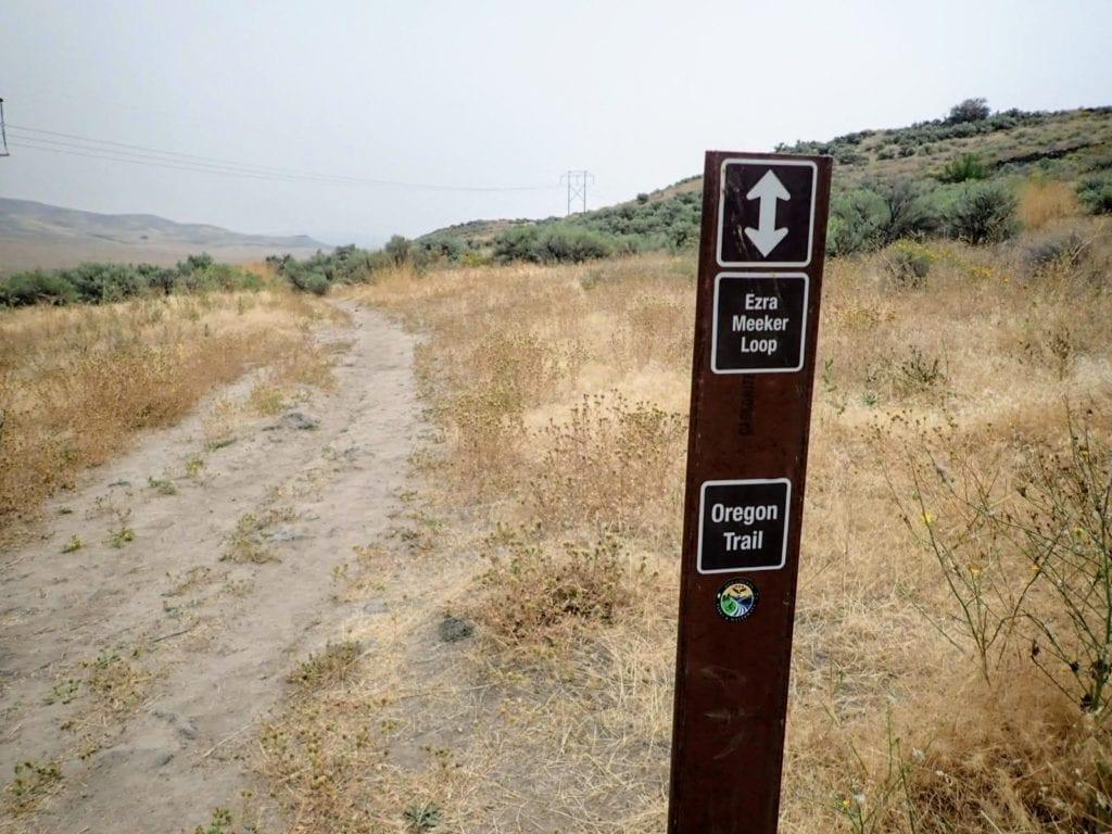 Oregon Trail sign near Boise