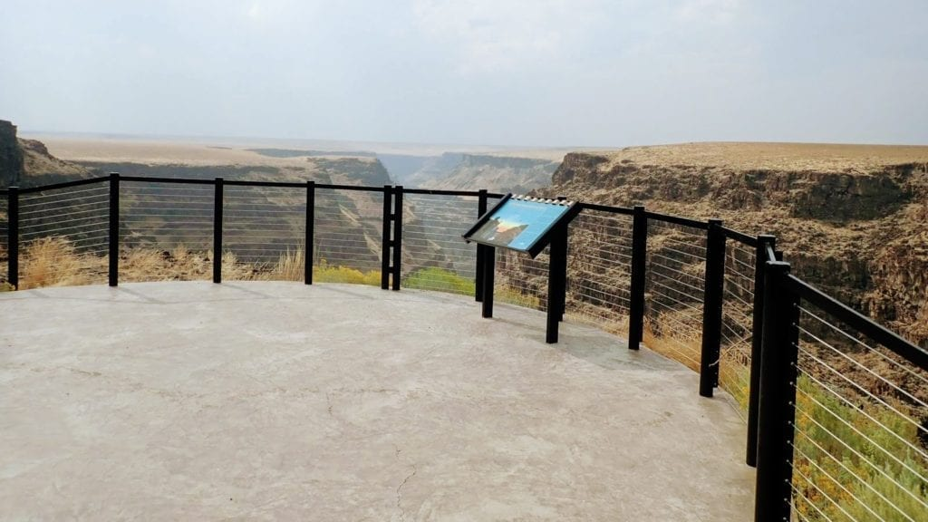 Paved and fenced overlook at Bruneau Canyon