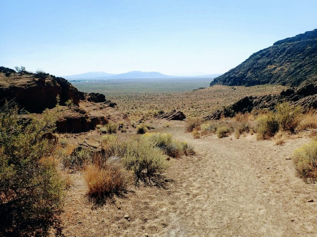 High desert hiking trail in Fort Rock caldera, Oregon
