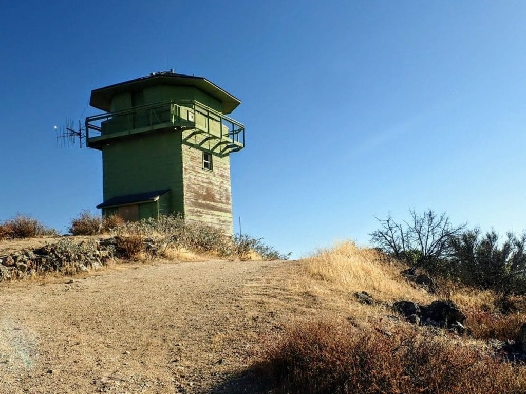 Lookout tower on North Chalone Peak
