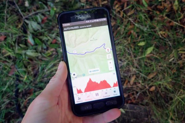Smartphone with bike navigation app