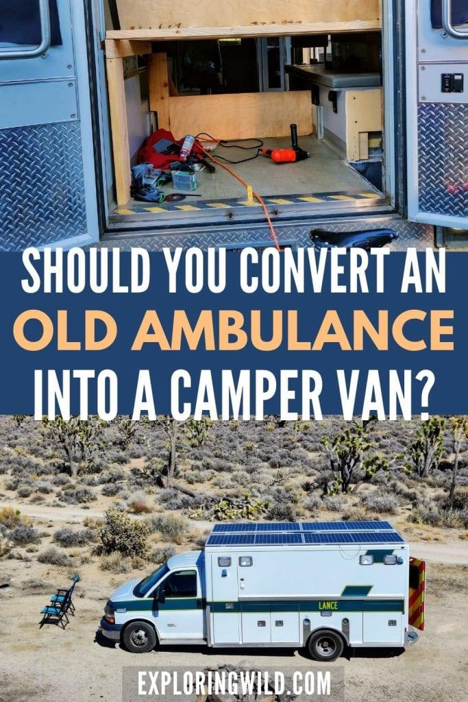 Pictures of ambulance camper van conversion