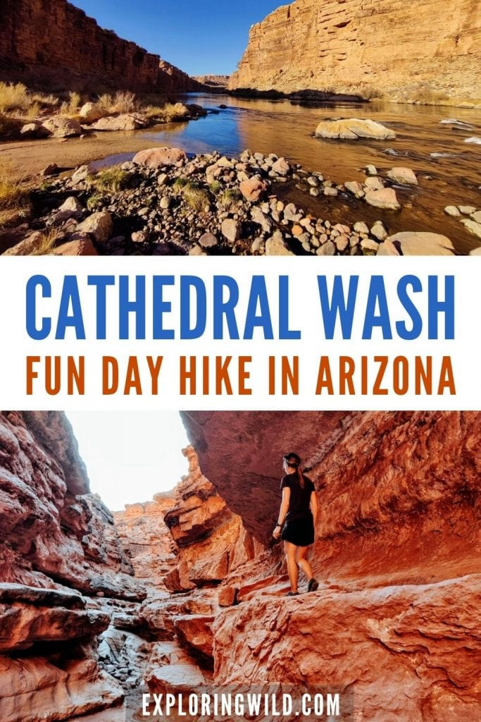 Pictures of hiking Cathedral Wash slot canyon