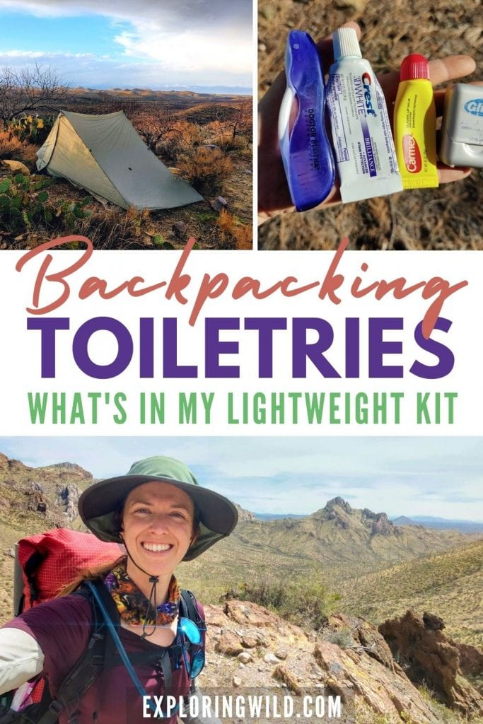 Pictures of Backpacking and Toiletries