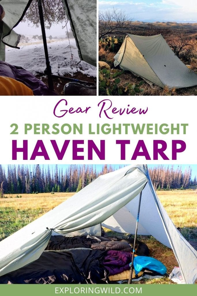 Pictures of Haven tarp while backpacking