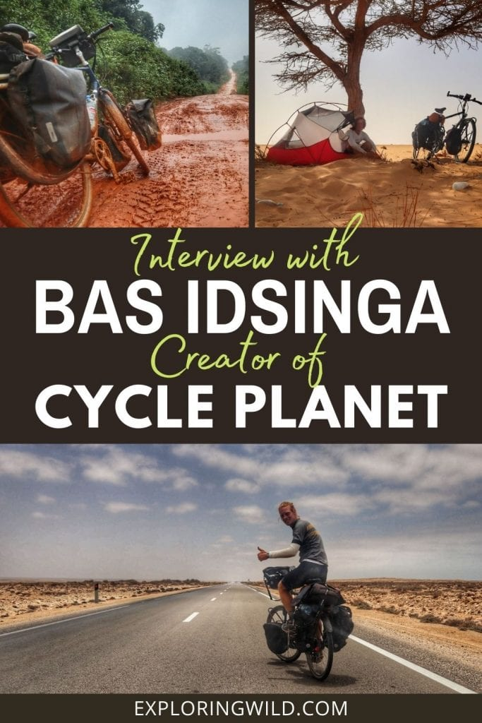 Pictures of touring bicycle in Africa